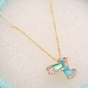 Kate Spade Diamond Hummingbird Necklace